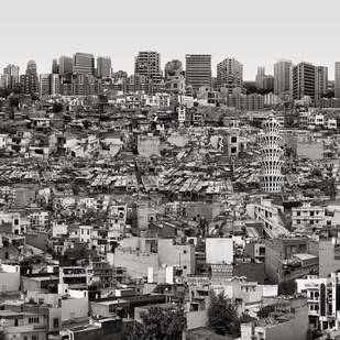 City Unclaimed by Gigi Scaria, Digital Digital Art, Digital Print on Archival Paper, Gray color