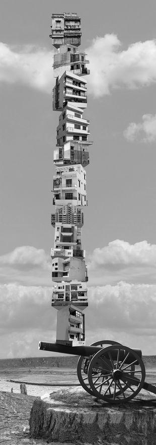 Puzzled Yet Undaunted by Gigi Scaria, Digital Digital Art, Digital Print on Archival Paper, Gray color