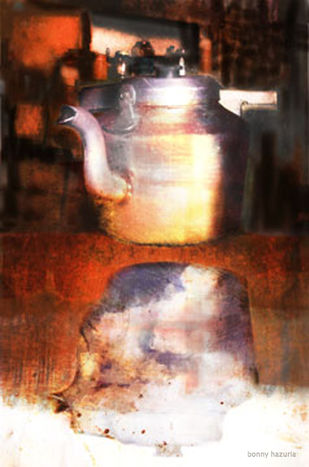 Kettle by Bonny Hazuria, Digital Photography, Digital Print on Enhanced Matt, Brown color
