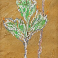 Gopal ghose untitled mixed media on paper 10.5x6.5in circa 1950