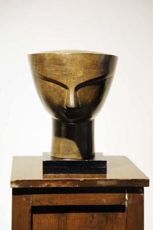 Devi by Bimal Kundu, Art Deco Sculpture   3D, Bronze, Brown color