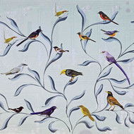 Debasish dutta freedom to fly .. a3 .. acide free paper print acryliccollage 12418