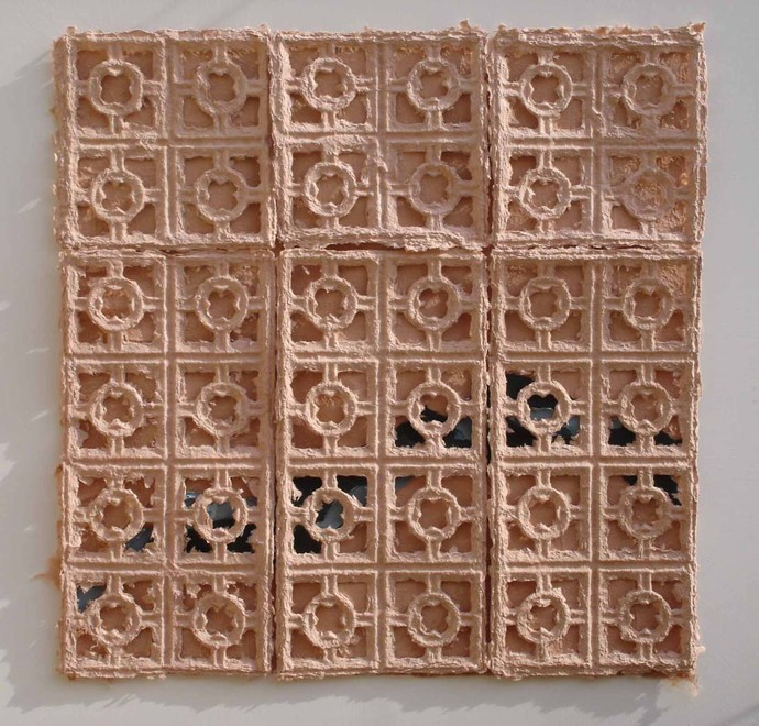 Pinkcity by Ingrid Pitzer, Decorative Painting, Cast Paper, Brown color