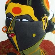 Thota vaikuntam untitled 12 x 9 inches acrylic on canvas 10675