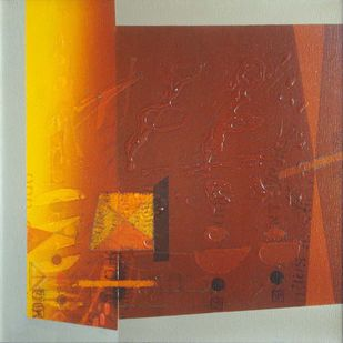 Untitled by Anwar Khan, Abstract Painting, Oil on Canvas, Brown color