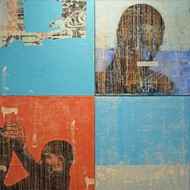 Untitled by Sunil Padwal, Pop Art Painting, Acrylic on Canvas, Cyan color
