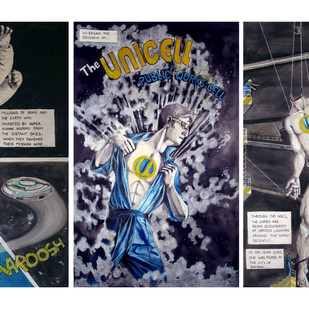 Chronicles Of Unicell by Tushar Joag, Illustration Painting, Mixed Media,