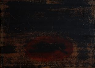 'History; Told Re-told' 8 (Series 1-8) by Saju Kunhan, Abstract Painting, Mixed Media on Wood, Black color