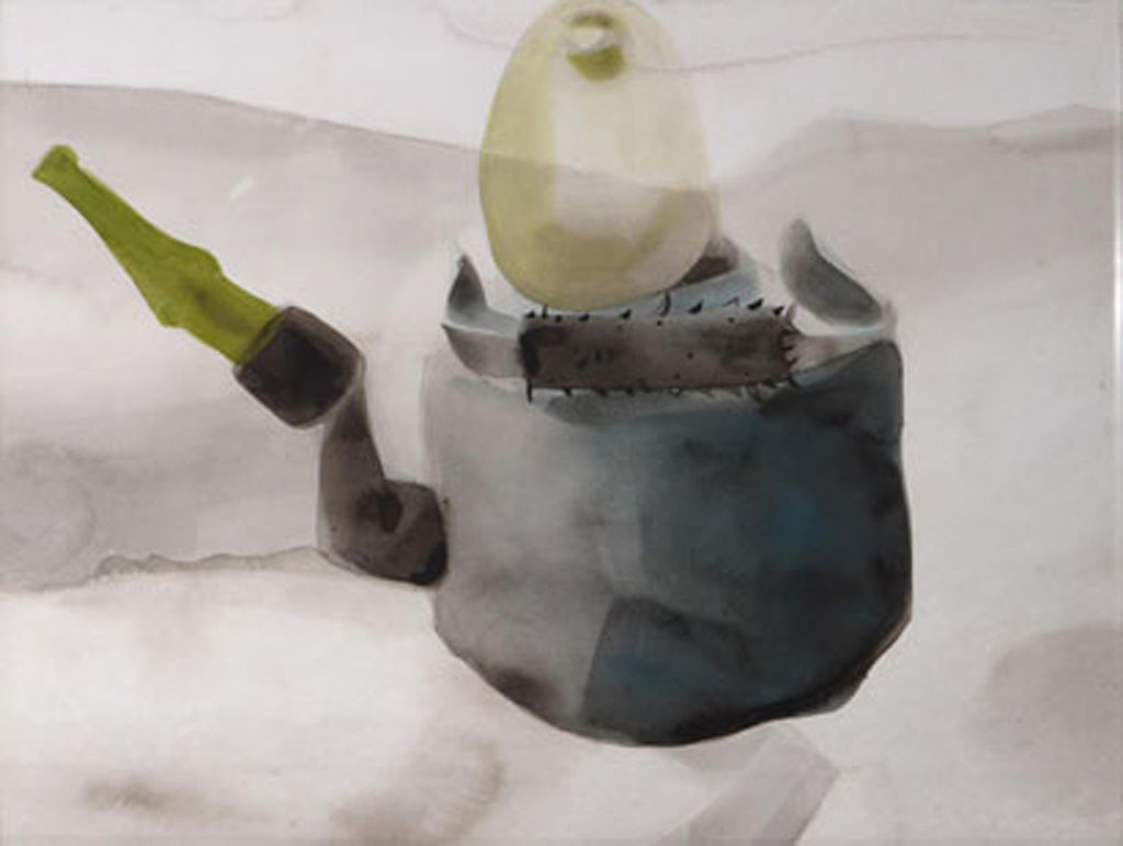 Untitled by Sharath Kulagatti, Expressionism Painting, Watercolor on Paper, Gray color