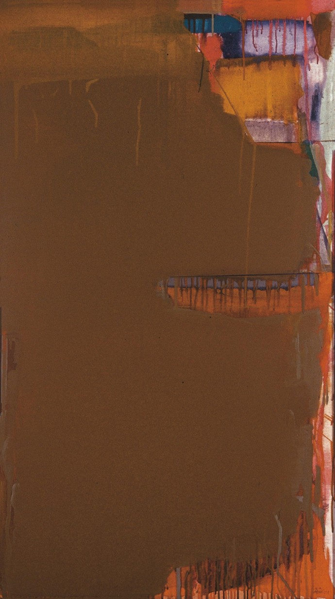 Untitled - edition of 60 by Prabhakar Kolte, Abstract Printmaking, Serigraph on Paper, Brown color