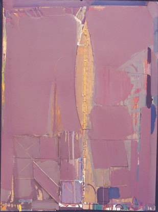 Untitled - edition of 60 by Prabhakar Kolte, Abstract Printmaking, Serigraph on Paper, Pink color