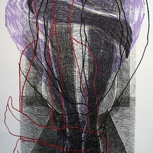 Multiple Encounter J by Anandmoy Banerji, Illustration Printmaking, Etching & Serigraph, Gray color