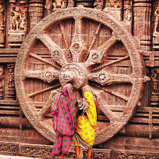 Glorious India 21 by Rupinder Khullar, Image Photograph, Digital Print on Paper, Brown color