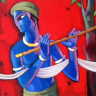 Krishna Digital Print by Sekhar Roy,Decorative