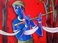 Krishna Digital Print by Sekhar Roy,Decorative