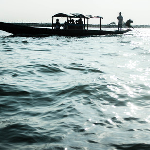 Chilika Lake by Prapti Mittal, Image Photograph, Digital Print on Paper, Gray color