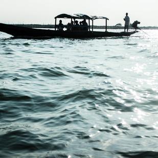Chilika Lake by Prapti Mittal, Image Photograph, Digital Print on Paper, Gray color