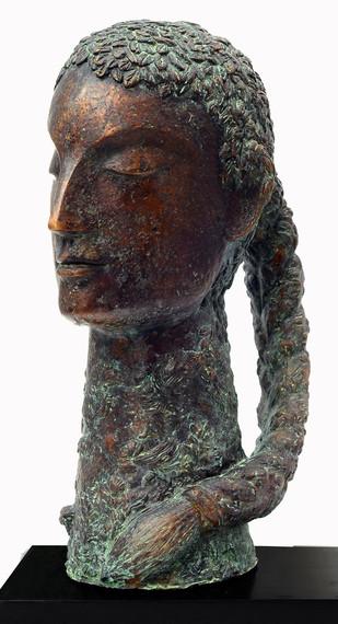 Untitled by Atin Basak, Art Deco Sculpture | 3D, Bronze, Gray color