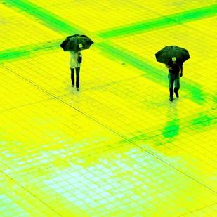 Untitled by Karan Khanna, Digital Photograph, Digital Print on Archival Paper, Yellow color