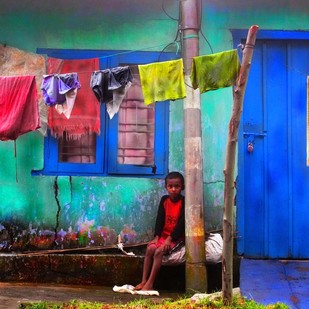 Untitled by Karan Khanna, Digital Photograph, Digital Print on Archival Paper, Blue color
