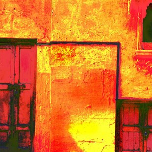 Untitled by Karan Khanna, Digital Photograph, Digital Print on Archival Paper, Orange color