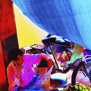 Untitled by Karan Khanna, Image Photograph, Digital Print on Archival Paper, Blue color
