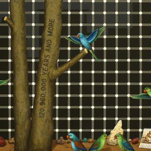 Substance Of Faith by Jagannath Panda, Pop Art Painting, Mixed Media, Green color