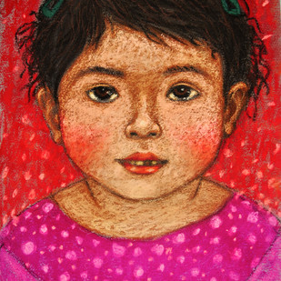 innocent look 5 Digital Print by Meena Laishram,Traditional