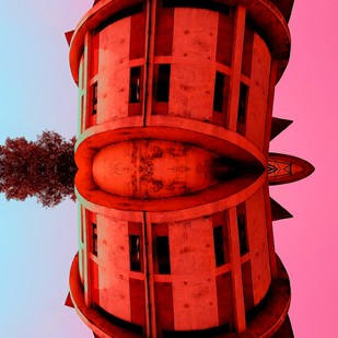 Landing In Benaras by Pankaj Mullick, Digital Digital Art, Digital Print on Enhanced Matt, Red color