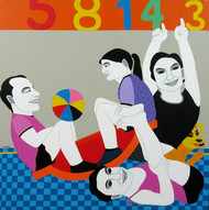 Untitled by Farhad Hussain, Pop Art Painting, Acrylic on Canvas, Beige color
