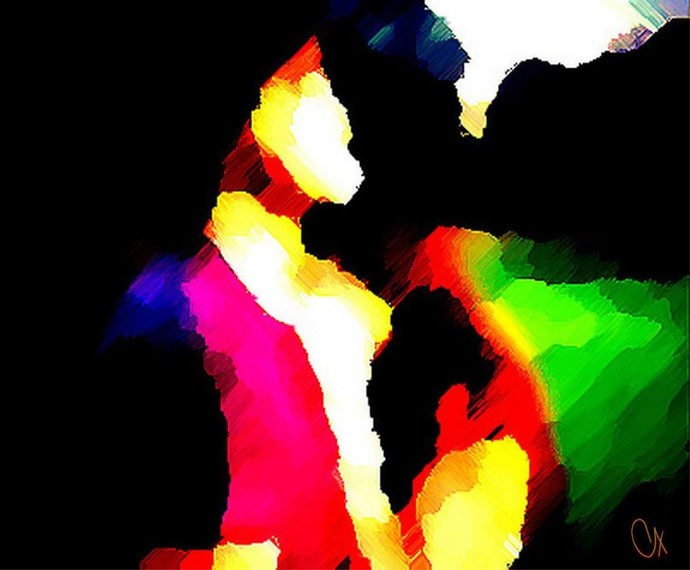 Love - Togetherness by A S Pithadia, Digital Digital Art, Digital Print on Canvas, Black color