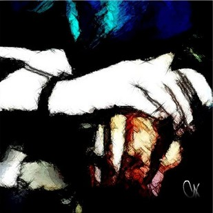 I Am With You by A S Pithadia, Digital Digital Art, Digital Print on Canvas, Black color