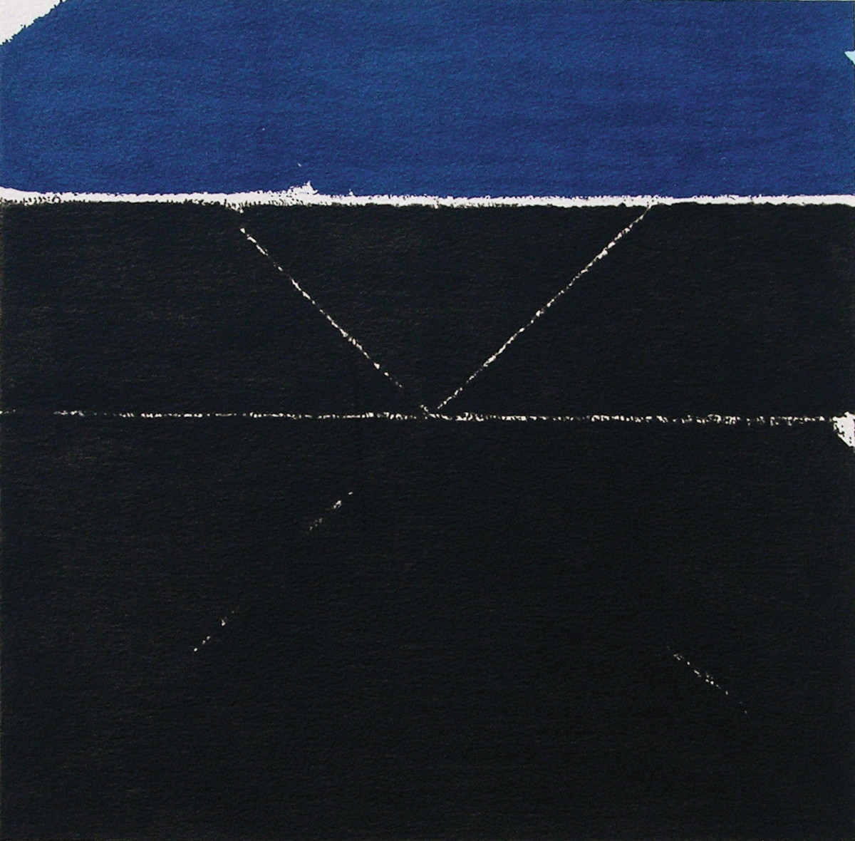 Prakriti by S H Raza, Geometrical Serigraph, Serigraph on Paper, Black color