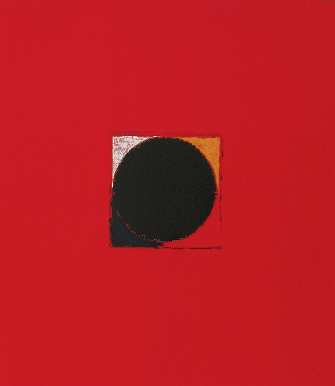 Bindu by S H Raza, Geometrical Serigraph, Serigraph on Paper, Red color