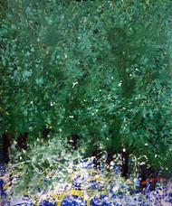Nature by Palash chandra naskar, Abstract Painting, Acrylic on Acrylic Sheet, Green color