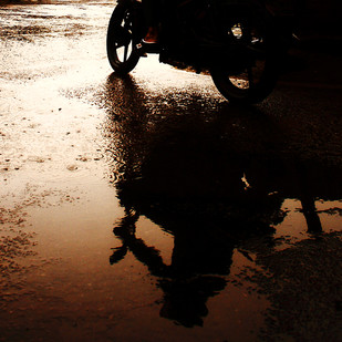 Reflection by Krishnendu Chatterjee, Image Photograph, Digital Print on Archival Paper, Brown color