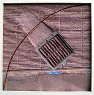 AIR DUCT 2 by Dattatraya Apte, Abstract Painting, Mixed Media on Paper, Brown color