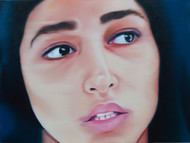 Witness I by Riyas Komu, Realism Painting, Oil on Canvas, Brown color