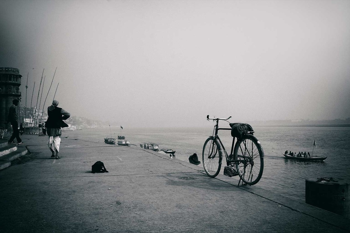 Varanasi 1 by Krishnendu Chatterjee, Image Photograph, Digital Print on Archival Paper, Gray color