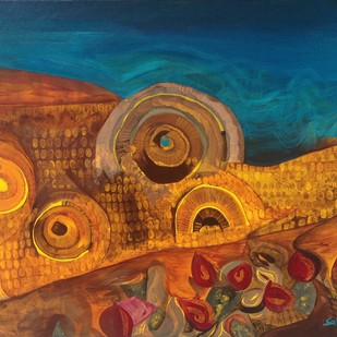 Wood Chuck Chuck by Sahaya Sharma, Abstract Painting, Acrylic on Canvas, Brown color