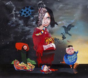 Haters Gonna Hate by Raghava K K, Pop Art Painting, Acrylic on Canvas,