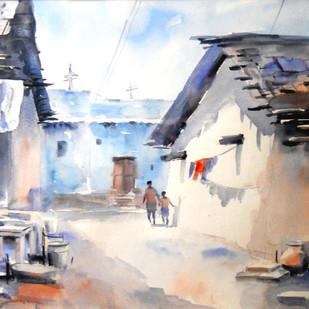 Life Digital Print by Sajal K. Mitra,Impressionism