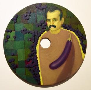 Story 2 by Rajesh Prasad Srivastava, Pop Art Painting, Oil on Acrylic Sheet, Beige color