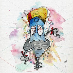 Surveillance by Ashwani Aggarwal, Digital Digital Art, Digital Print on Canvas, Gray color