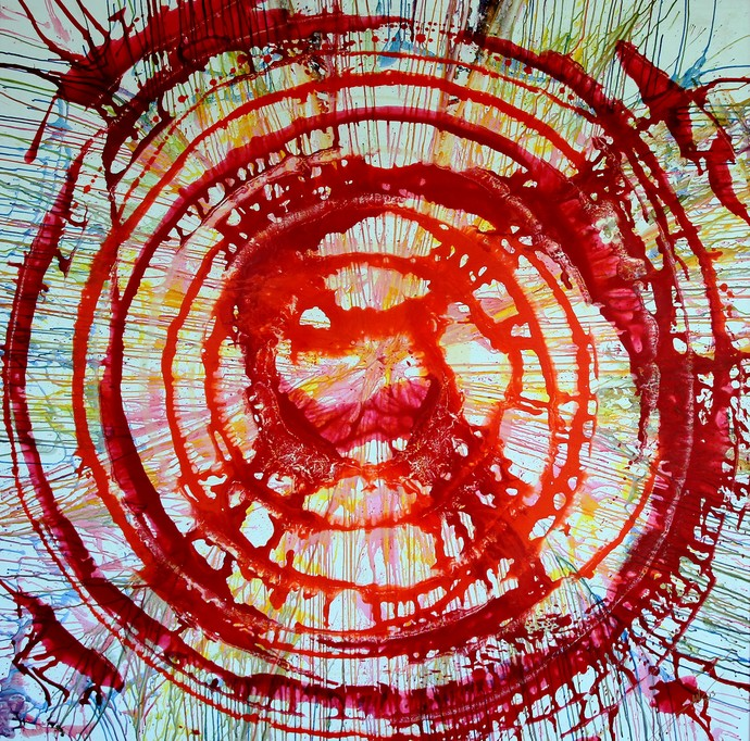 ETERNAL CIRCLE by Baljit Singh Chadha, Abstract Painting, Mixed Media on Canvas, Brown color