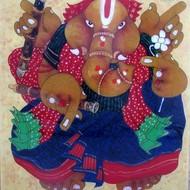 Artist shyamal mukerjee size  20 x 20  medium   oil on acrylic sheet   year   2008   framed