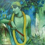 Tune of love 02 size 36   x 36   acrelic on canvas   artist subrata das    2011