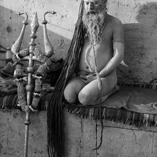 Banaras 06 by Arunkumar Mishra, Image Photograph, Digital Print on Paper, Gray color
