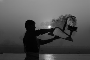 Banaras 07 by Arunkumar Mishra, Image Photography, Digital Print on Paper, Gray color