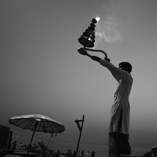 Banaras 08 by Arunkumar Mishra, Image Photography, Digital Print on Paper, Gray color